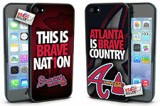 Atlanta Braves Hard Case TWO PACK for iPhone 4, 4s, 5, 5s, 5c