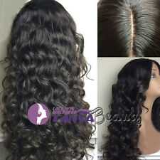 "4""*5"" silk top Natural Wavy lace wig 100% Brazilian remy human hair wigs 8""-22"""