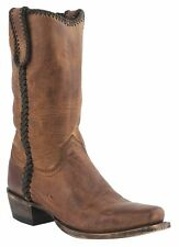 Lucchese M2601 74 Mens Peanut Brittle Distressed Leather Western Cowboy Boots