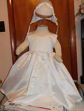 Girls Embroidered Christening Gown