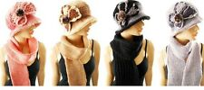 Ladies & Girls WINTER WARM Knit Knitted Hat and Scarf Set 2 Pcs