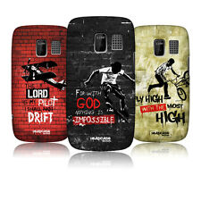 HEAD CASE CHRISTIAN RIDER PROTECTIVE SNAP-ON BACK CASE COVER FOR NOKIA ASHA 302