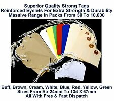 Strung Tags String Price Labels Jewellery Luggage Tie On Gift Retail Reinforced