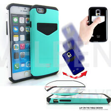 Hybrid case ShockProof Defender Card slot wallet cover for iPhone 5 5S 6 4.7""