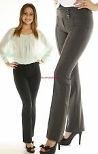 X~ Pintuck Stylish Pant Womens Dressy Straight Trousers Flare Work Office Career