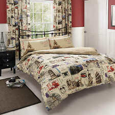 World Post Duvet Cover Quilt Cover Bedding Set With Pillow Cases