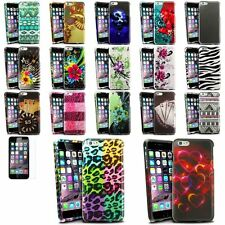 Colorful Rubberized Design Cover Case+Clear Protector For iPhone 6 Plus 5.5 inch