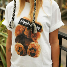 PEEK A BOO BEAR T SHIRT HIPSTER HATE LOVE DOPE SWAG CUTE TUMBLR FASHION GIFT