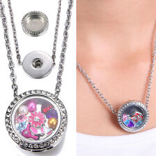 Lot Floating Charms Locket Snap-It Chunk Button For Snap Neckalce Chain Jewelry