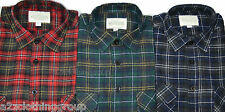 New Mens Flannel Lumberjack Check Work Shirt Brushed Cotton Casual Flap Pockets