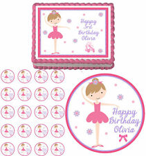 Ballerina cupcake toppers ebay for Angelina ballerina edible cake topper decoration sale