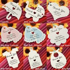 20pcs Personalized Baby Shower Christening Birthday Favor Thank You Gift Tags