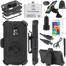 EEEKit for Samsung Galaxy S5 Note 4,Case+Data/Audio Cable+Car Charger/Holder+OTG