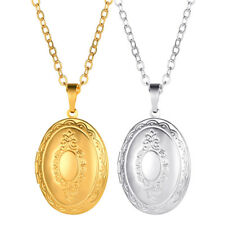Classic European Fancy Picture Photo Locket Pendant Necklace Memory Jewelry Gift