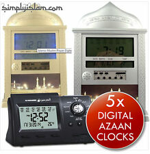 Azan Adhan Clock Digital Islamic Muslim Prayer Mosque Like Al Fajr 5 Times