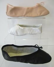 NEW LEO'S  LEATHER GIRLS BALLET DANCE SLIPPERS BLACK, WHITE OR PINK MANY SIZES