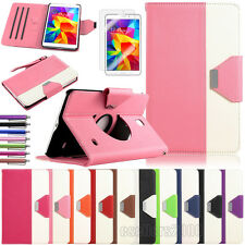 """360 Rotating PU Leather Case Cover Stand For Samsung Galaxy Tab 4 8.0"""" SM-T330"""
