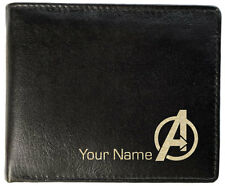 Mens Personalised Leather Wallet - Avengers - 3 Styles