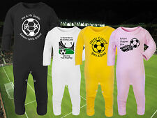 NOTTS COUNTY Football Baby Romper Suit Sleep Personalised Gift - Any team/colour