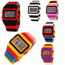 Fashion LED Digital Classic Men Women Children Rainbow Wrist Watch Multicolor