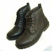 MENS OR BOYS BLACK OR BROWN TWISTED SOUL, LINED, LACE UP FASHION BOOTS SIZE 6-12