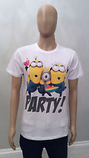 PRIMARK Mens Official DESPICABLE ME MINIONS PARTY T Shirt KEVIN CARL PHIL MINION