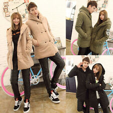 Unisex Look Thicken Winter Warm Padded Hooded Coat His-and-hers Clothing Jackets