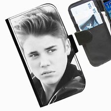 Justin Bieber leather wallet personalised phone case for Samsung Galaxy