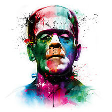 Frankenstein Colourful Abstract Art WALL ART CANVAS FRAMED OR POSTER PRINT