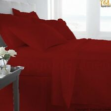 100% EGYPTIAN COTTON ALL BEDDING ITEMS BURGUNDY SOLID CHOOSE SIZE&SET