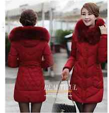 Korean fashion ovo collar and long sections Slim Down padded jacket women