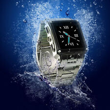 "Waterproof W818 1.5"" Touch Quad Band Watch Cell Phone Camera Bluetooth Unlocked"
