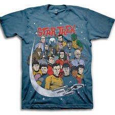 Star Trek Comic Book Style Group Adult T-shirt