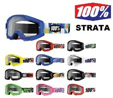 100% Strata Goggles Percent MX BMX Mountain Bike Snowmobile ATV Ski Snowboarding