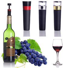 Reusable Vacuum Sealed Plastic Wine Champagne Bottle Stopper Preserver Plug Pump