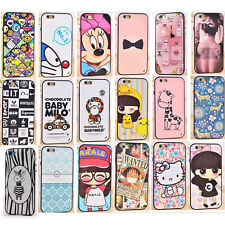 Nice Gift!Cartoon Soft TPU Case Cover&Frame Combo For Samsung iPhone with Packag