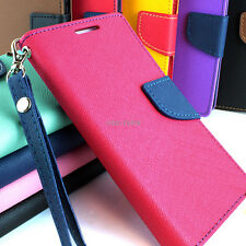 For Samsung Galaxy S5 SV Hybrid PU Leather Flip Folio Wallet Pouch Case W/Stand