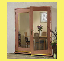 External Hardwood La Porte French Door Set. Chrome or Brass Hardware.