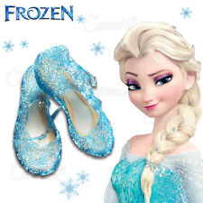 SALE ELSA GIRLS BLUE SHOES FOR FROZEN FANCY DRESS UP COSPLAY JELLY PARTY COSTUME