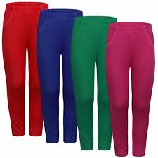 GIRLS JEGGINGS KIDS FASHION SOFT LEGGINGS STRETCHY CASUAL BOTTOMS SZ 1-12 YEARS