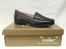 LADIES LEATHER LINED LIGHTWEIGHT BLACK COMFORT SLIP ON SHOES SIZE 3-8 NEW SALLY3