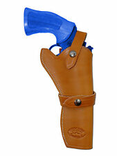 """NEW Barsony Tan Leather Western Style Gun Holster for Smith&Wesson 6"""" Revolvers"""