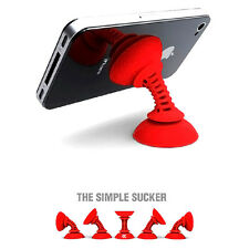 Cute Mini Silicone Cartoon Sucker Lazy Desktop Phone Mount Holder For iPhone 1X
