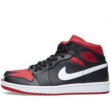 AIR JORDAN 1 MID 554724-020 Black/Gym Red-White *NEW IN BOX* BRED