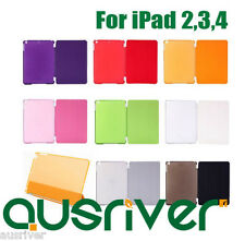 Smart Cover Skin Case and Opaque Hard Back Case for New iPad 4,iPad 3,2