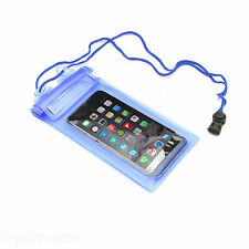 UNIVERSAL BLUE WATERPROOF HIKING POUCH CASE COVER FOR SMARTPHONE OR PHABLET