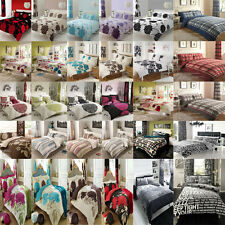 Duvet Quilt Cover Bedding Set With Pillow Cases *Single Double King Super King*