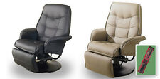 ER6 TAN OR BLACK SWIVEL SEAT RECLINER CAPTAINS CHAIR GAME ROOM THEATER MAN CAVE