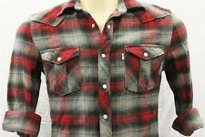 BRAND NEW LEVI'S MEN'S COTTON CLASSIC REGULAR FIT BUTTON UP  FLANNEL SHIRT RED