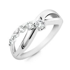 0.50 Carat White Sapphire Infinity Ring in Sterling Silver